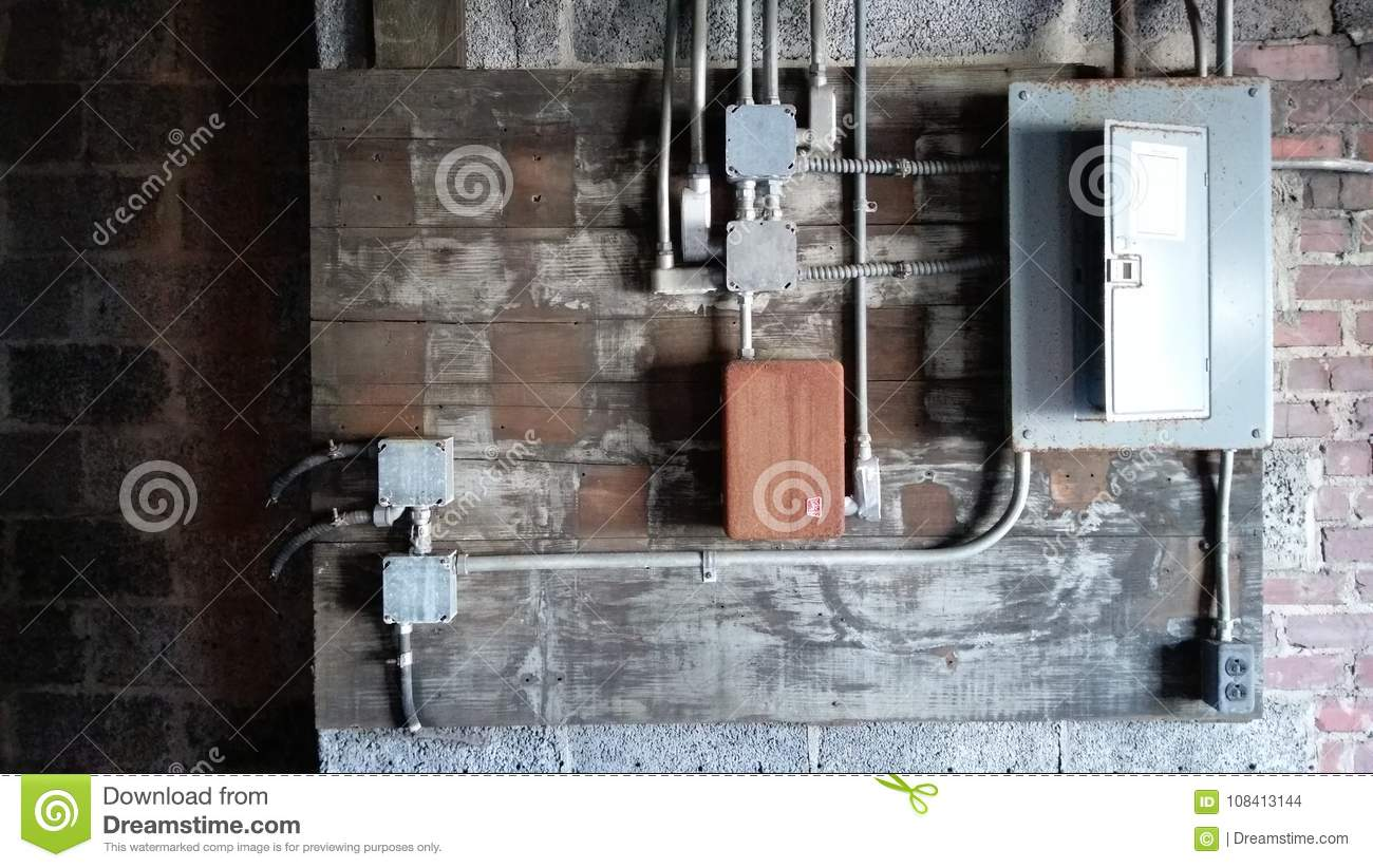 Fuse Box Stock Photo Image Of Lights Abandoned Danger 108413144 Pipe