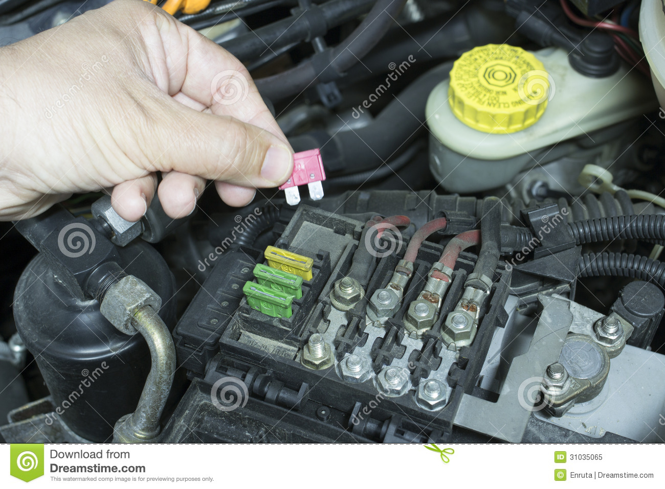 Replacing A Fuse Box In A Car : Fuse box car royalty free stock photo image
