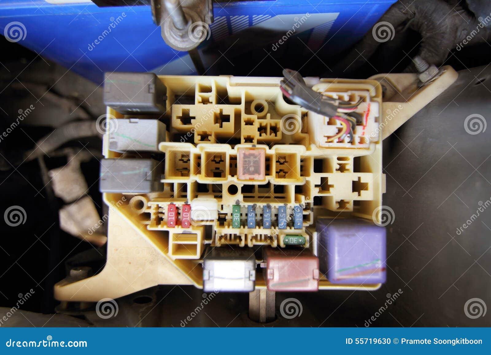 Fuse Box Of Car Stock Photo Image Closeup Focus 55719630 On Download