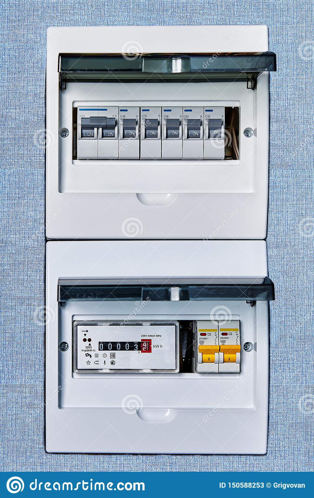 fuse box controls electricity in home stock image - image of measurement,  cabinet: 150588253  dreamstime.com