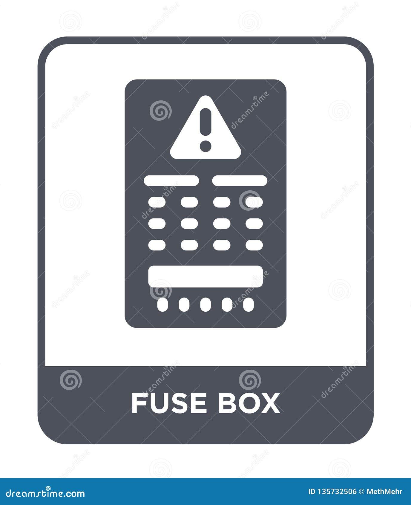 fuse box icon in trendy design style fuse box icon isolated onfuse box icon in trendy design style fuse box icon isolated on white background