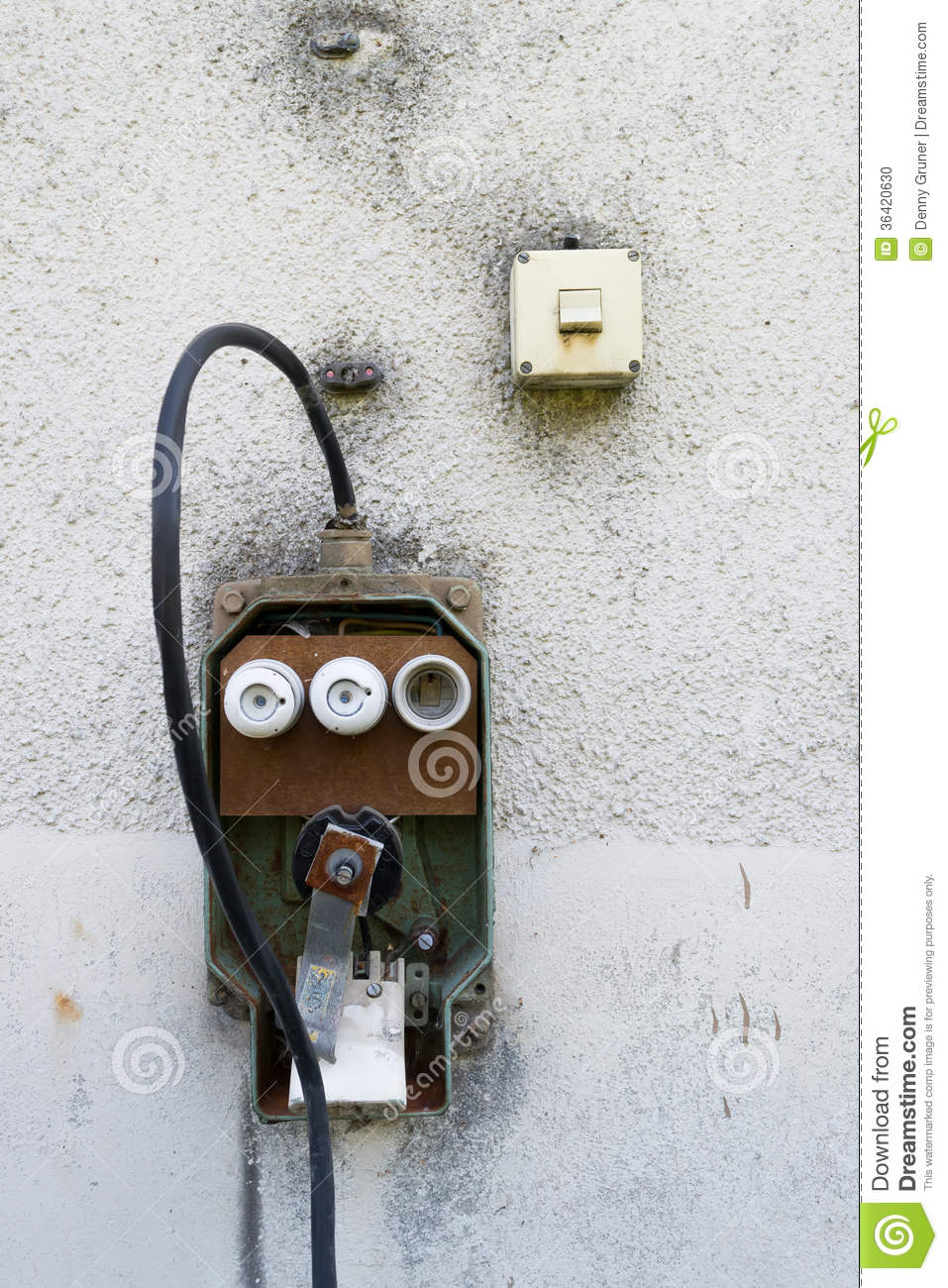 Loose Switch Fuse Box : Fuse box stock photo image of architectural rusty