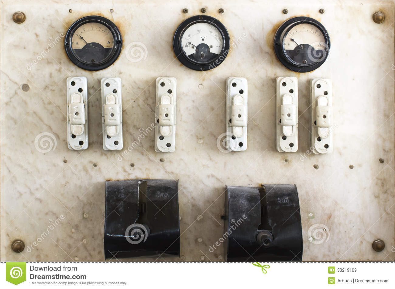 Fuse box and switch