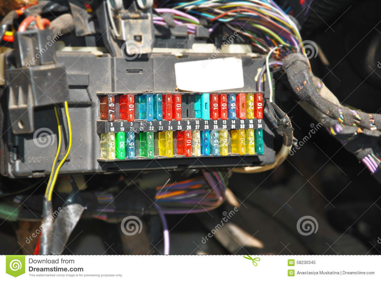 Intruder Fuse Box Wiring Library Cub Cadet 2130 Diagram Fusebox With Connection Wires Hamess Stock Image Of Design Connecting Wire To