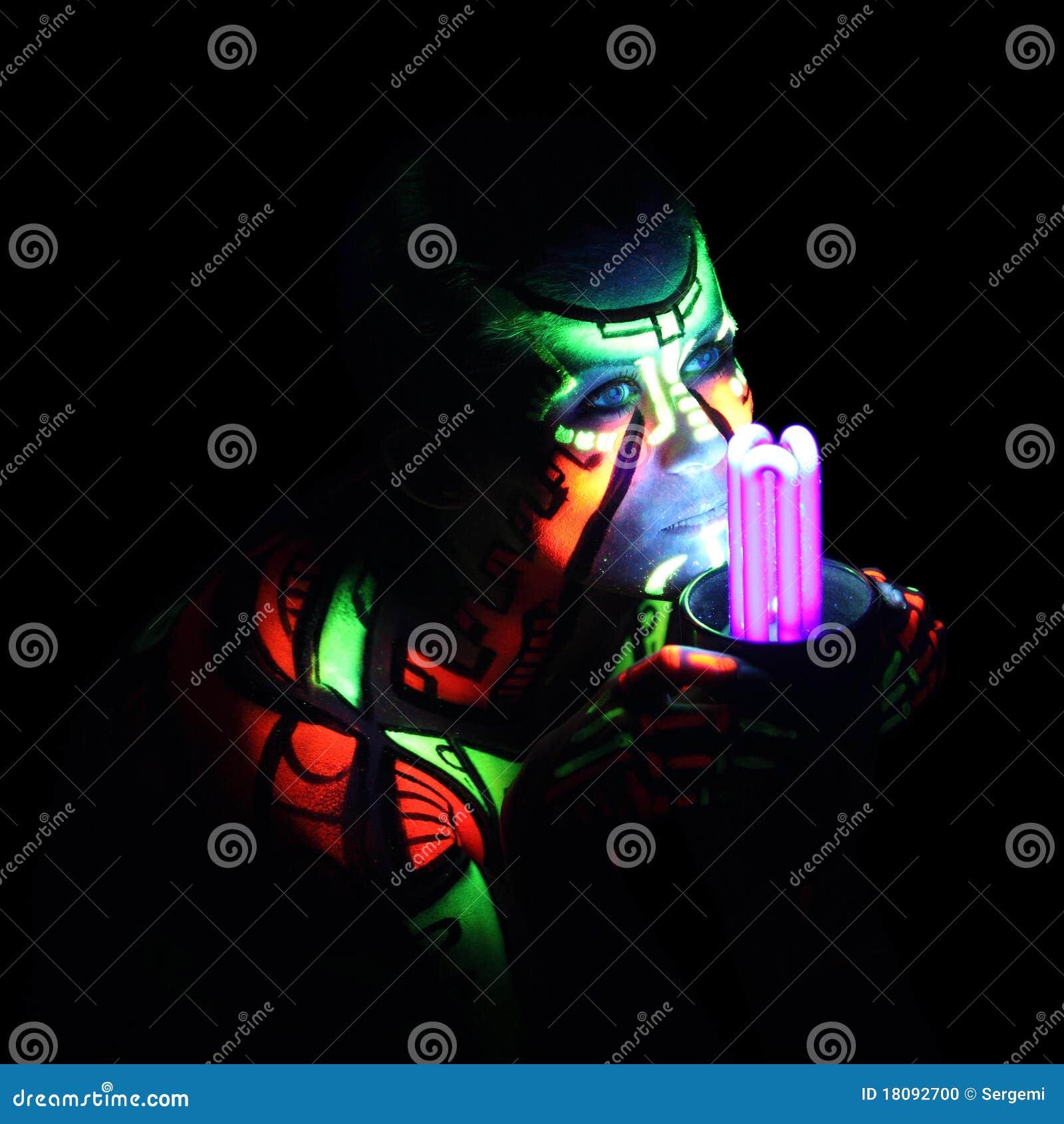 Fuselage-art au néon