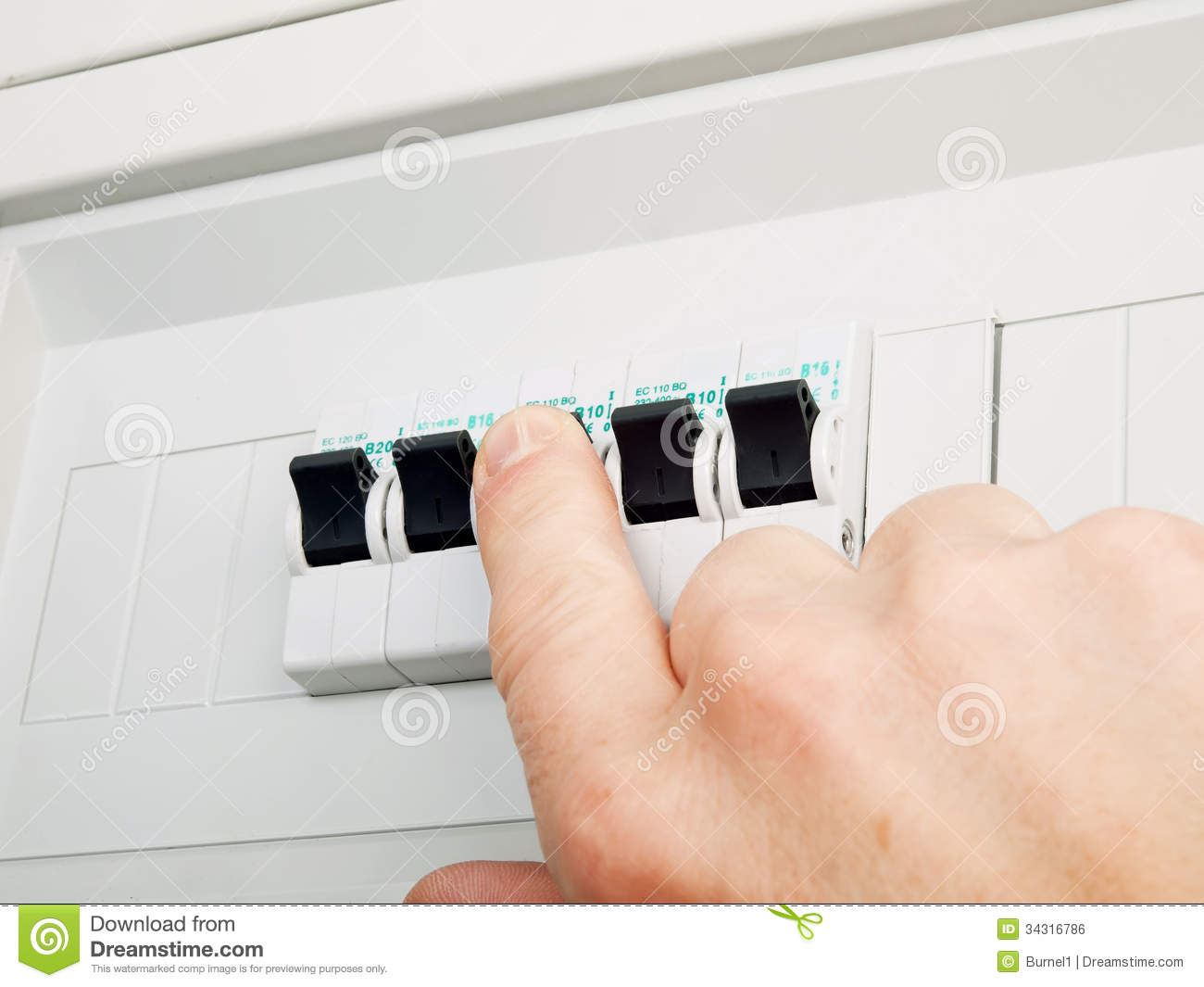 Fuses Control Stock Photo Image Of Maintenance Checking 34316786 Electric Home Fuse Box Switch On And Electrical Fusebox