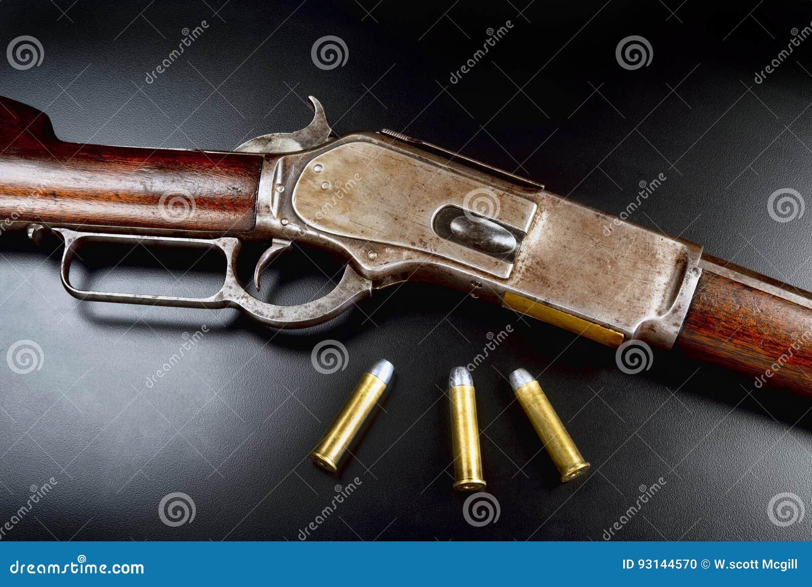 Fusil Antique D'action De Levier Photo stock - Image du ...
