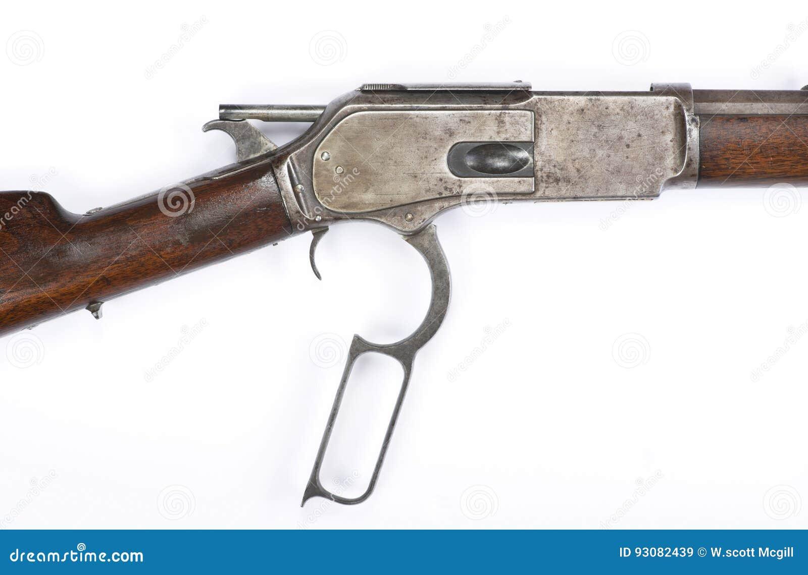 Fusil Antique D'action De Levier Entassant Le Marteau ...