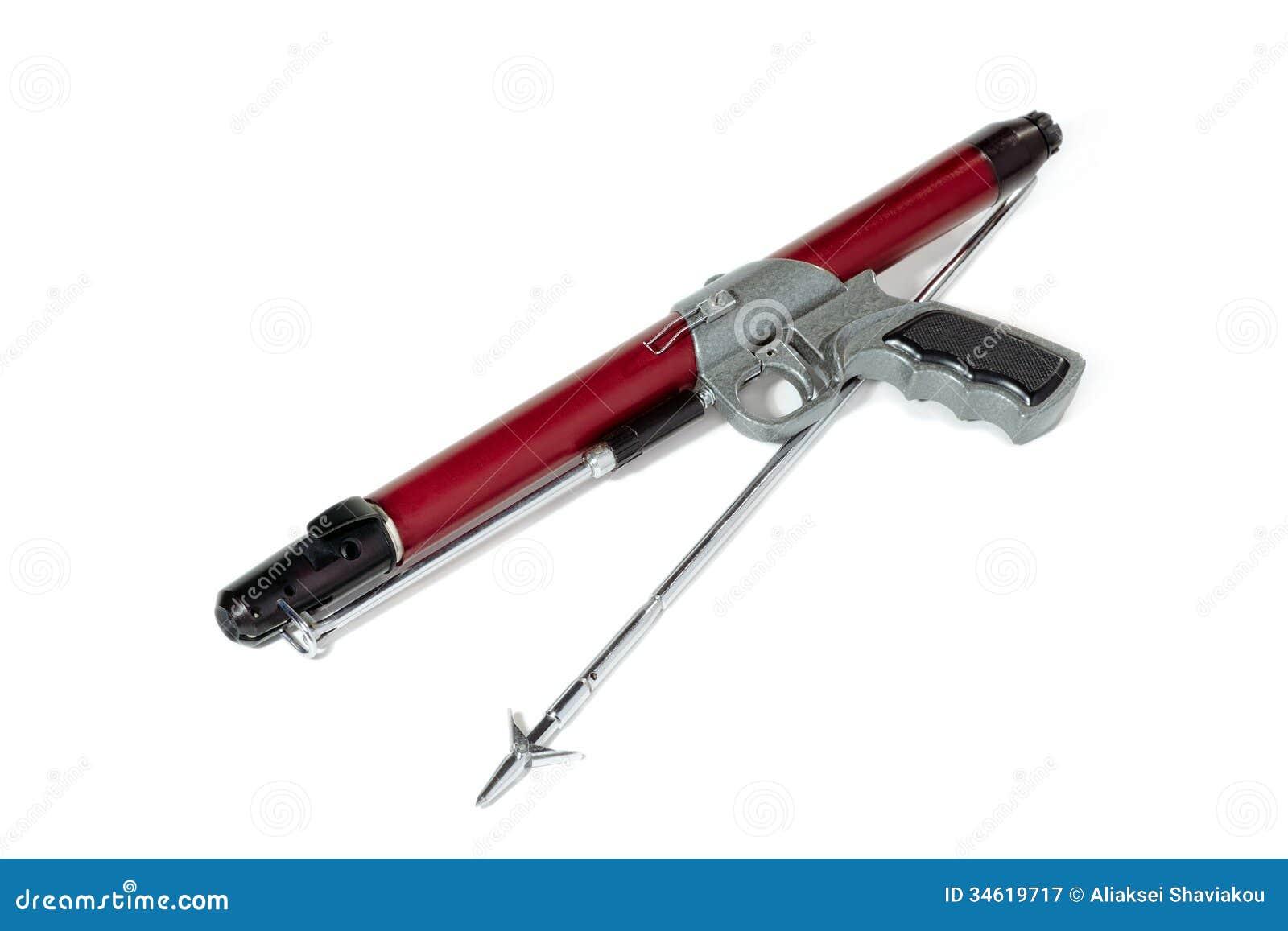 fusil avec l 39 harpon image stock image du p che vieux 34619717. Black Bedroom Furniture Sets. Home Design Ideas