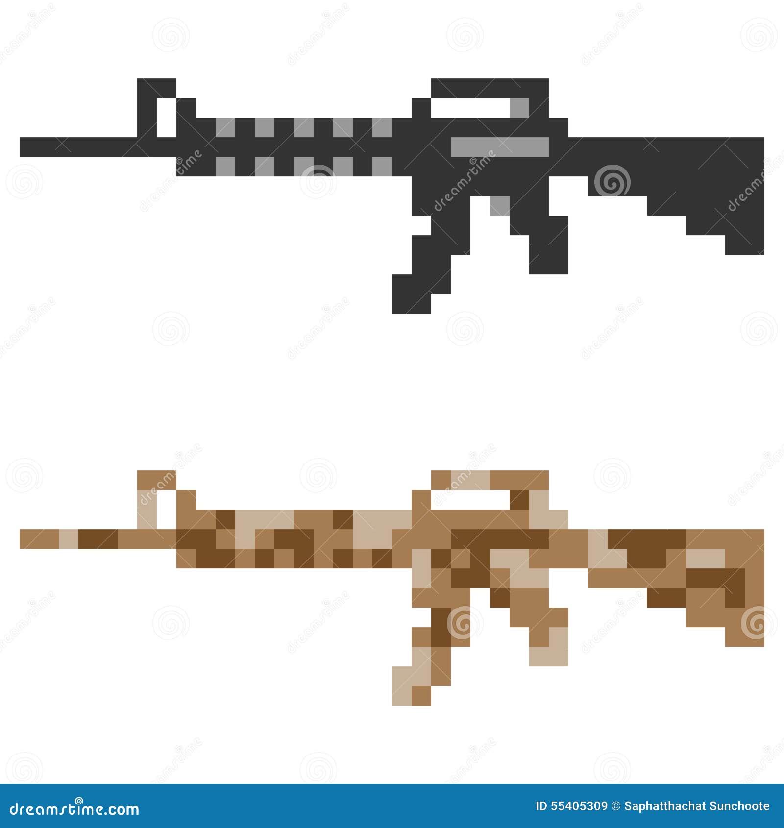 Fusil D Assaut D Arme à Feu D Icône D Art De Pixel D
