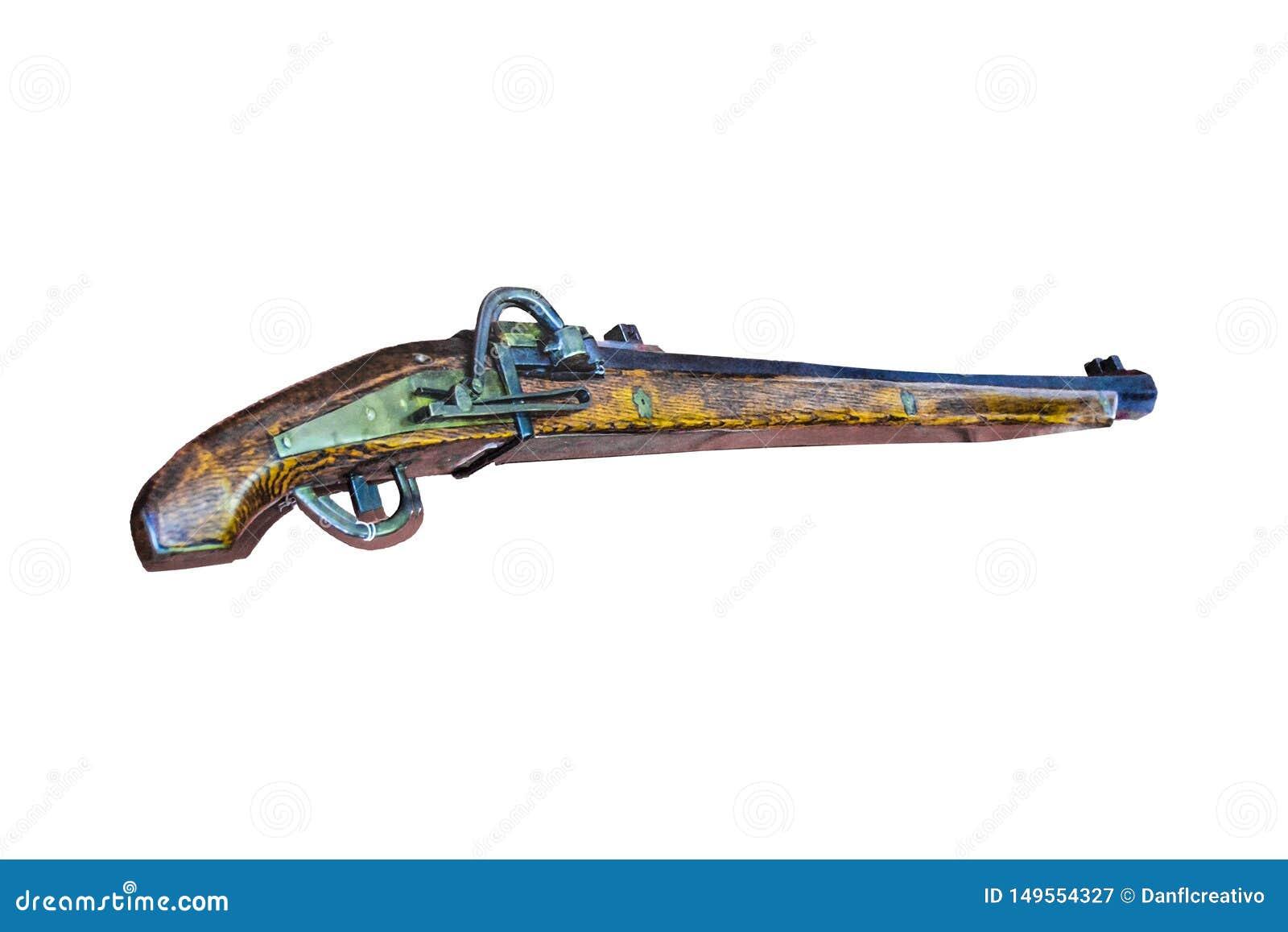 Fusil de chasse antique d isolement