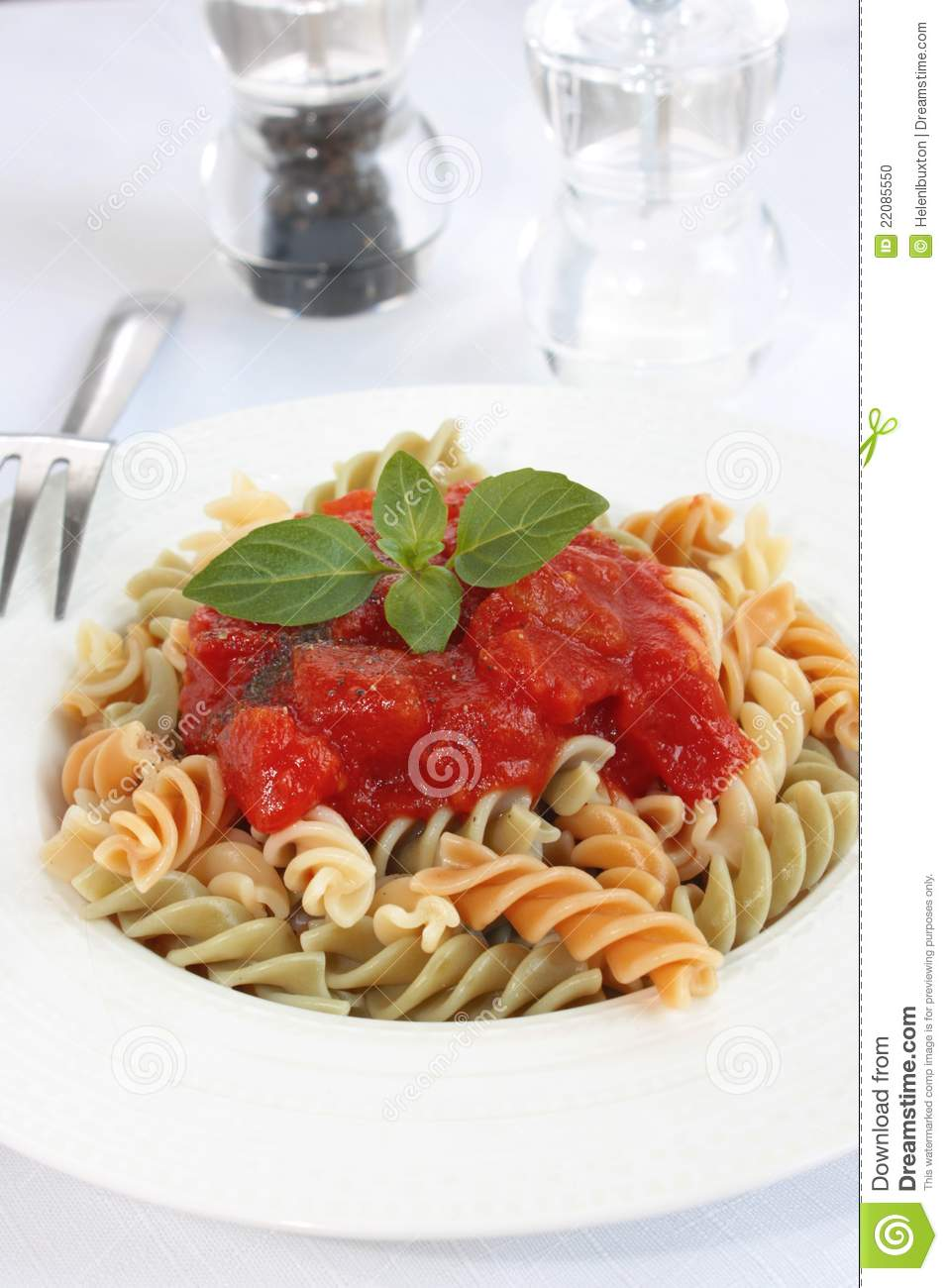 More similar stock images of ` Fusilli pasta with tomato sauce `