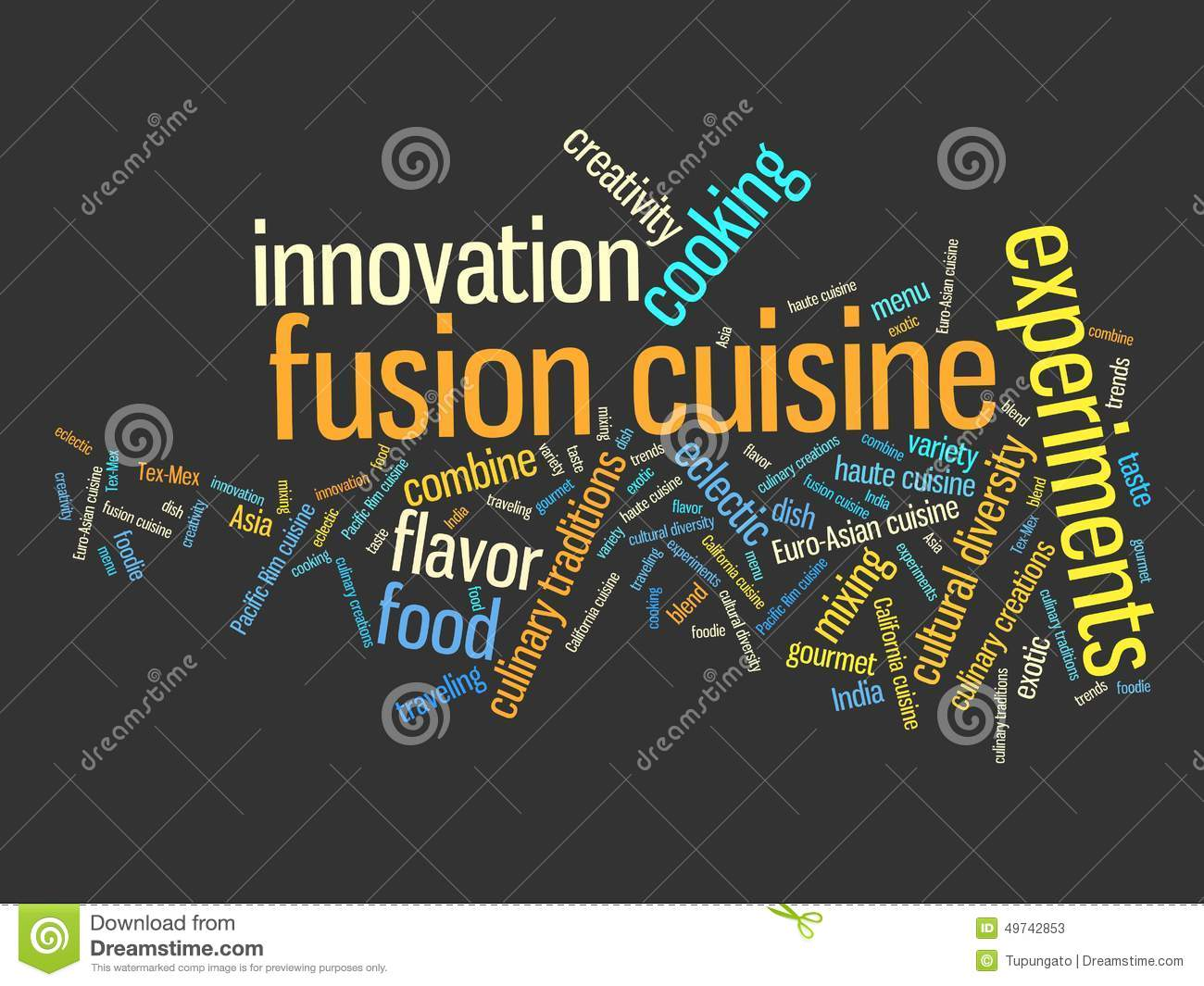 Fusion Food Stock Illustration - Image: 49742853