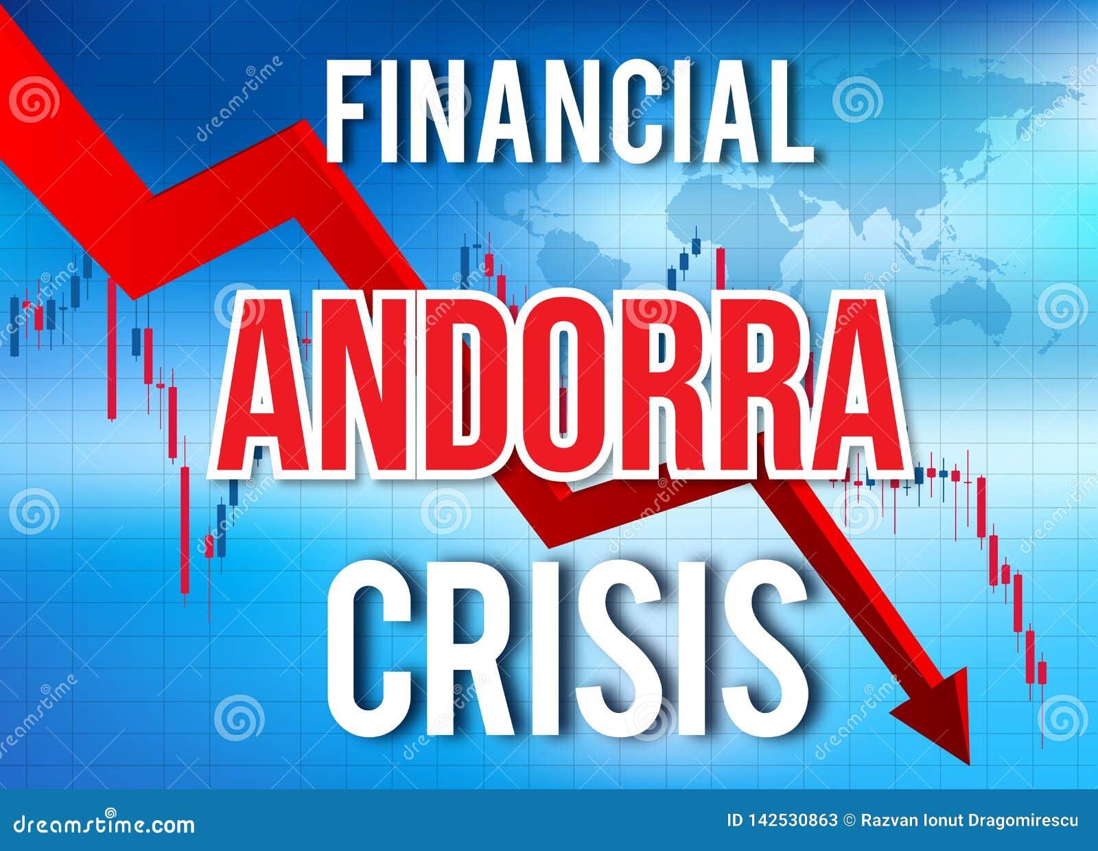 Fusion globale d effondrement de crise financière de l Andorre d accident économique du marché