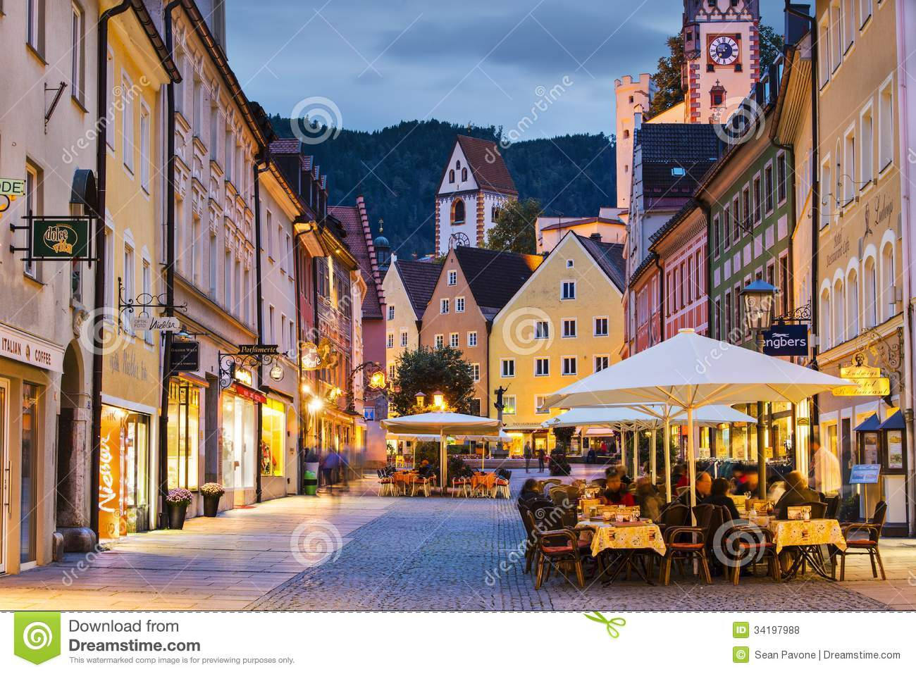 Fussen Germany  City new picture : FUSSEN, GERMANY SEPTEMBER 26: The main road September 26, 2013 in ...