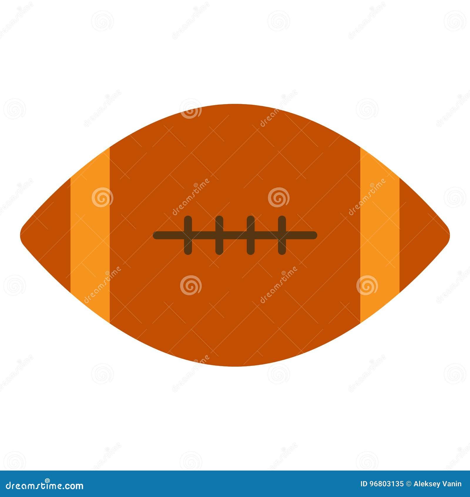 Futbol amerykański balowa ikona, wektorowa ilustracja
