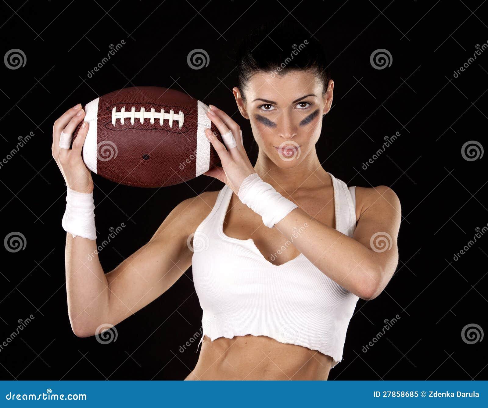 Futbol amerykański dziewczyna