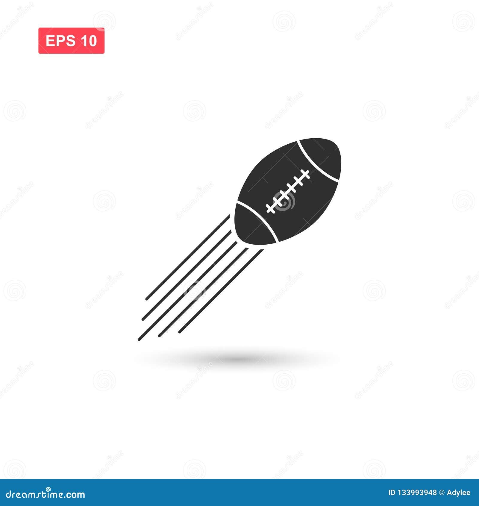 Futbol amerykański ikony balowy wektorowy projekt odizolowywający
