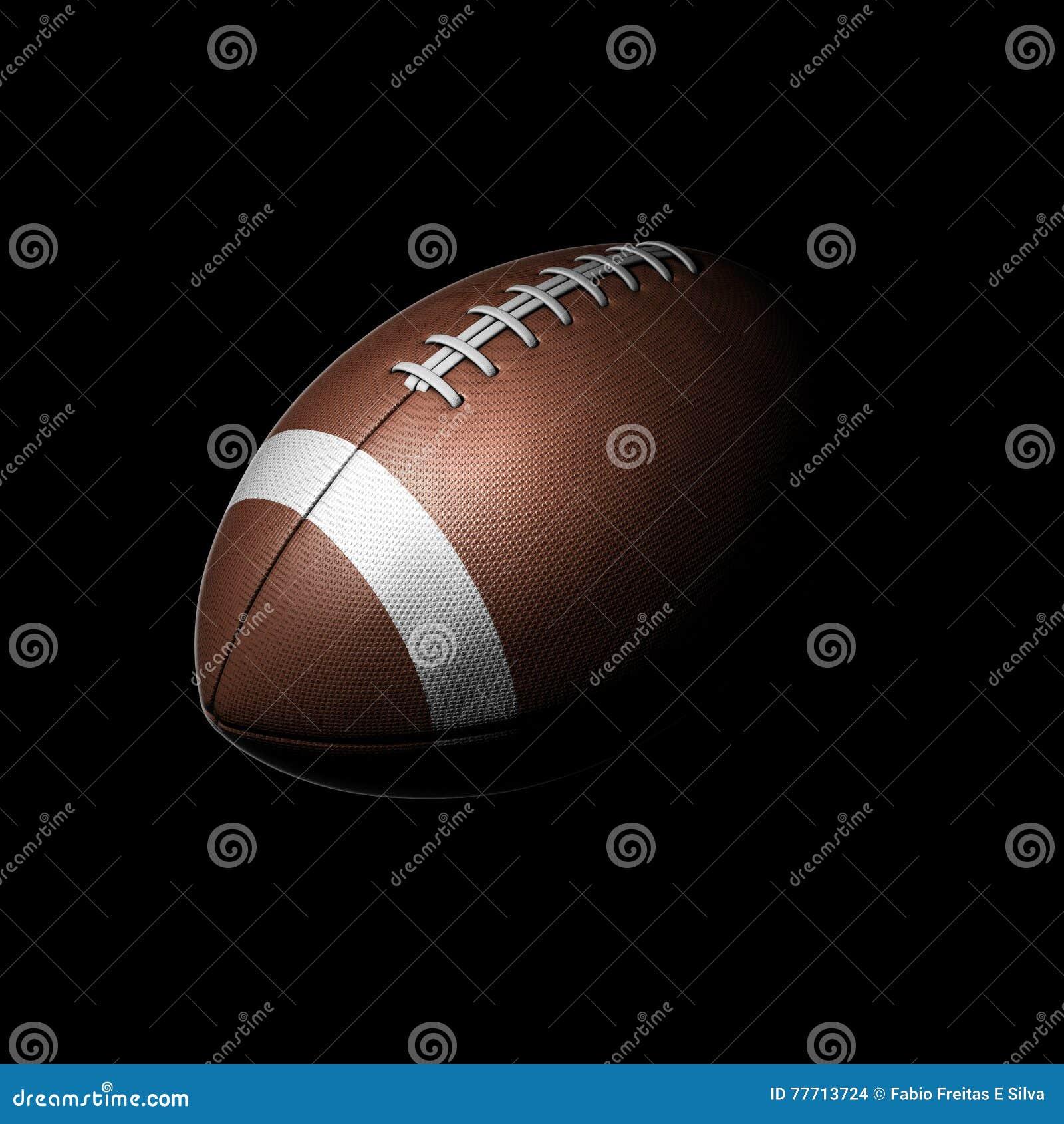 Futbol Amerykański piłka na czarnym tle