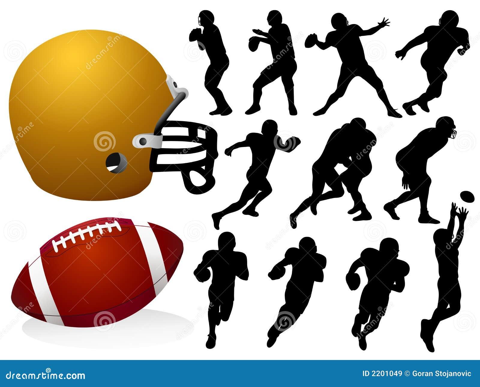 Futbol amerykański sylwetki