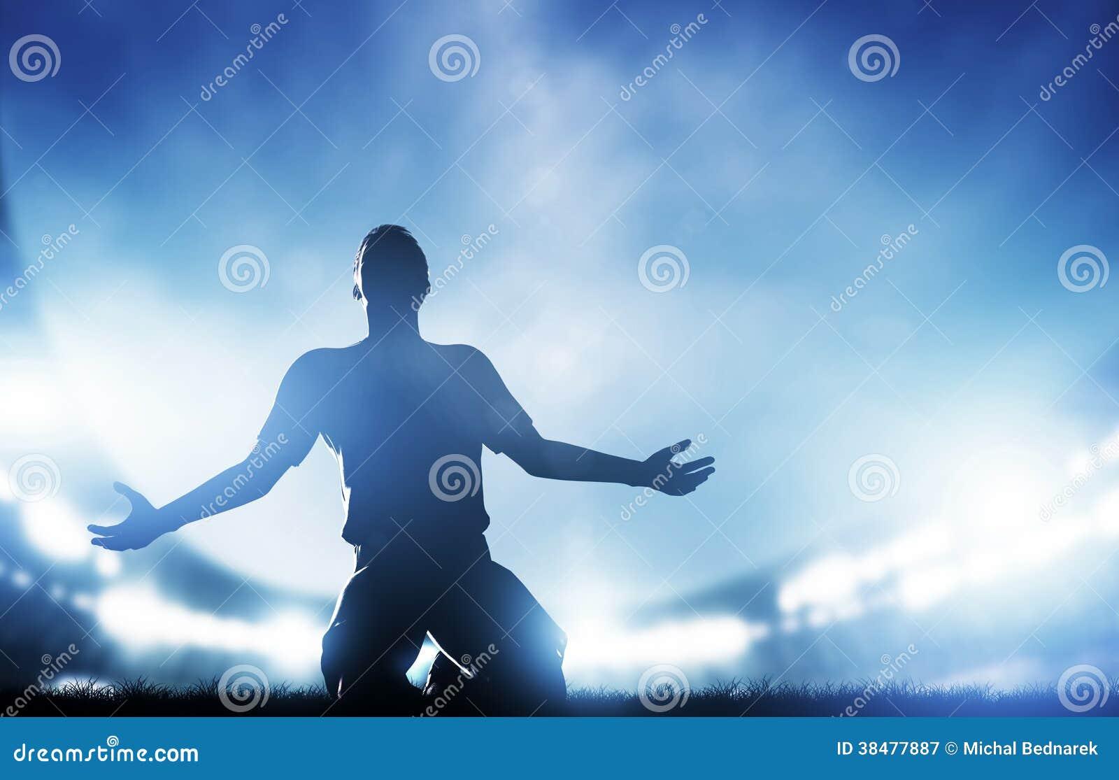 Futbol, mecz piłkarski. Gracz odświętności cel