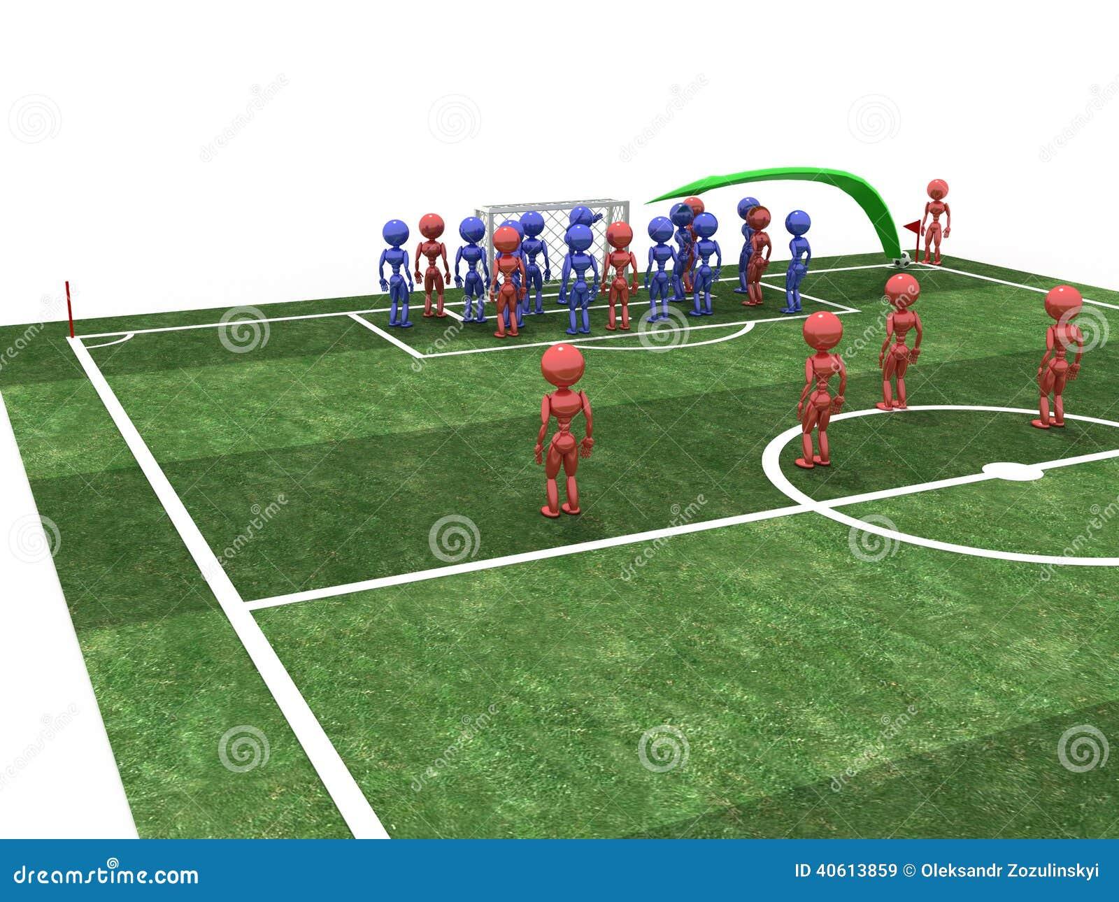 Futbolista bierze kąt -2