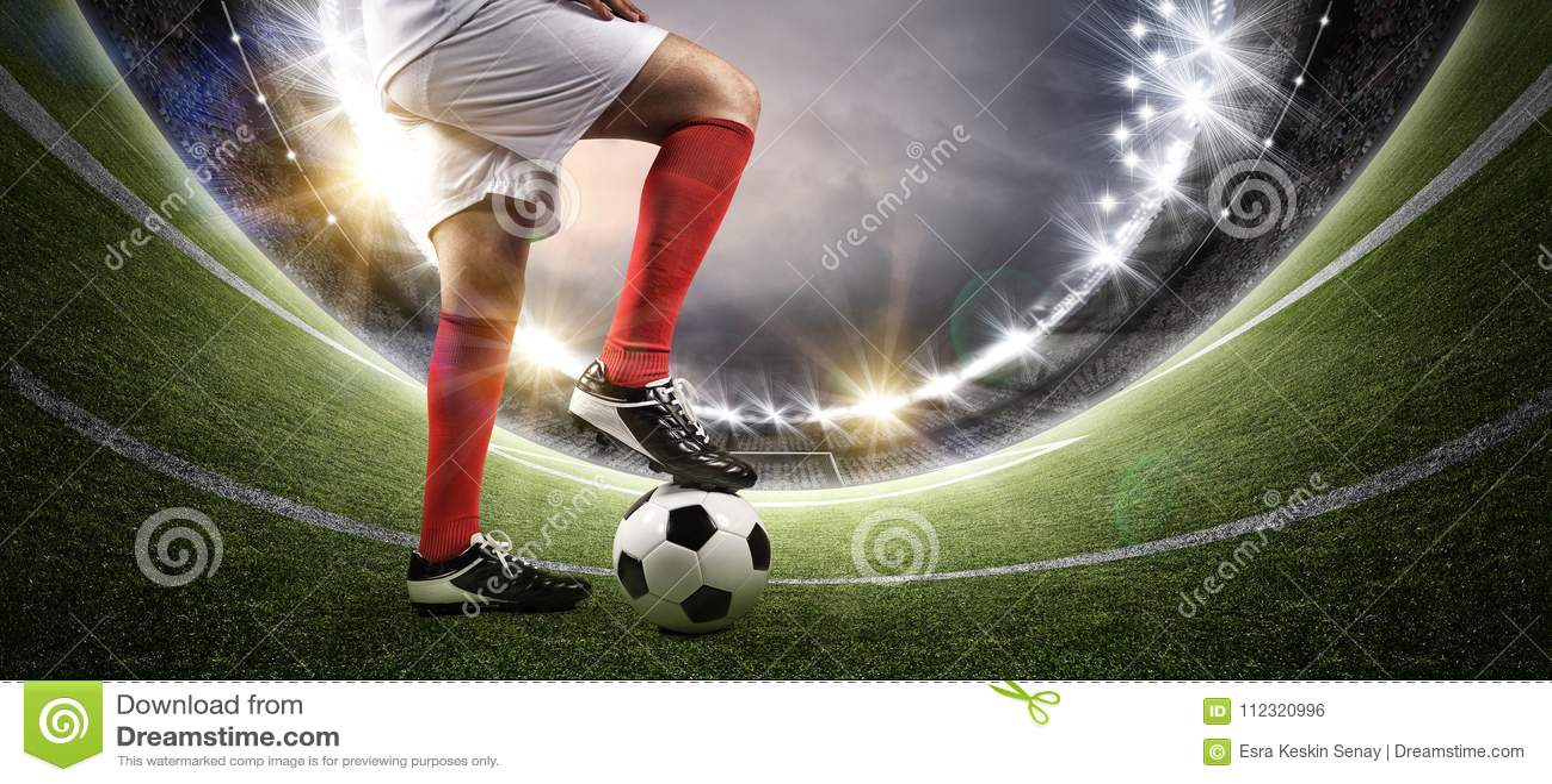 Futbolista en el estadio