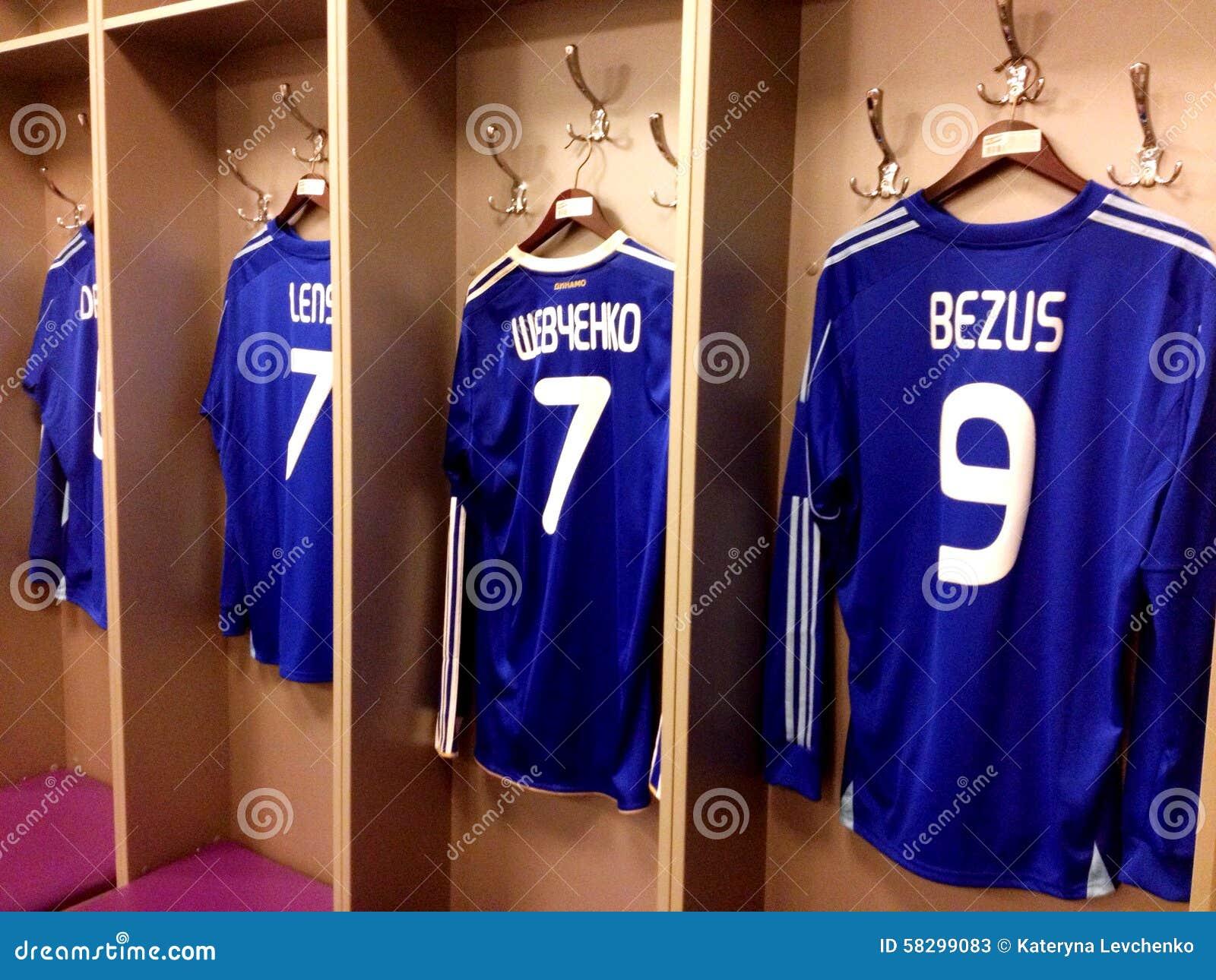 Futbolista koszulka w Kijowskim Olimpijskim stadium