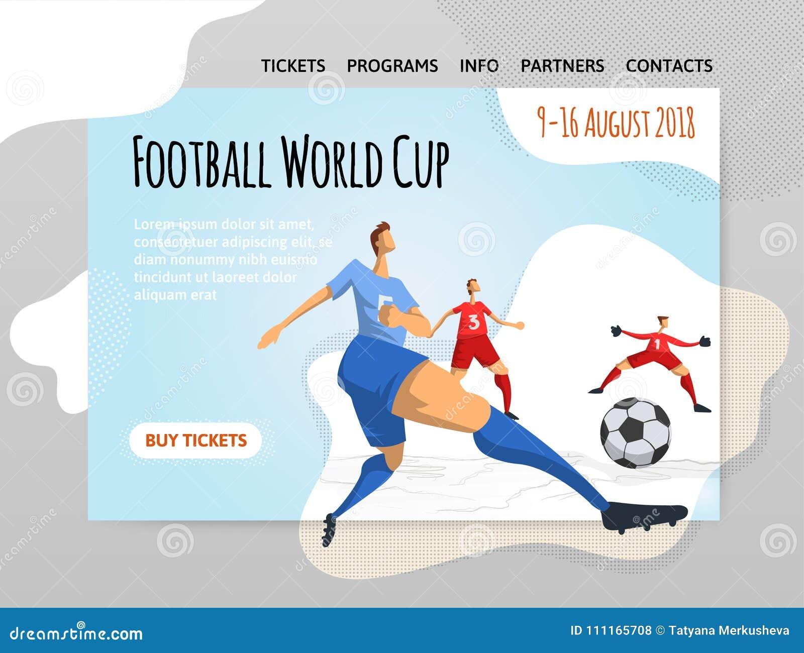 Futbolistas del fútbol en estilo plano abstracto Vector el illutration, la plantilla del diseño del sitio del deporte, la bandera