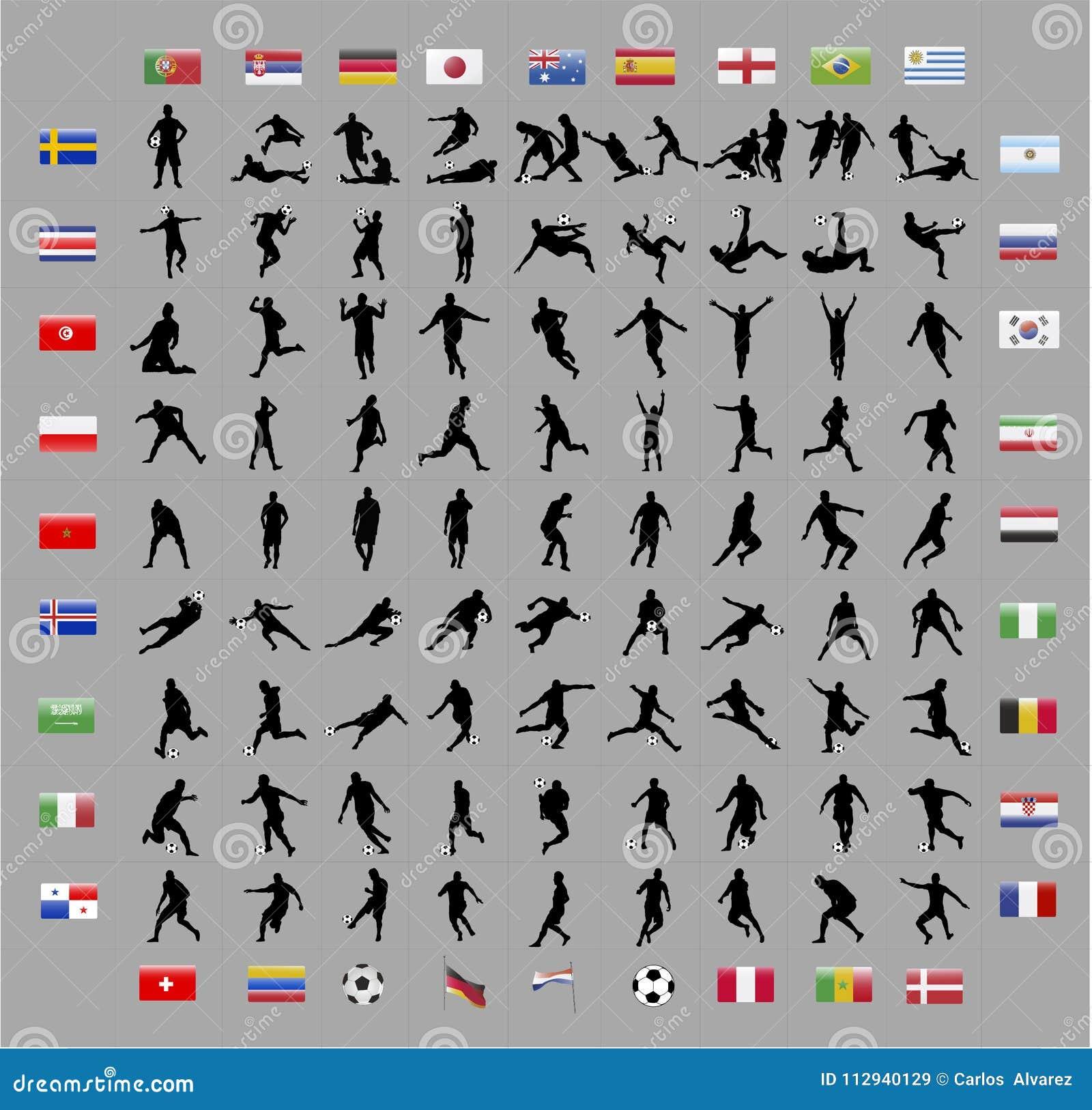 Futbolowi pucharu świata gracza kształty