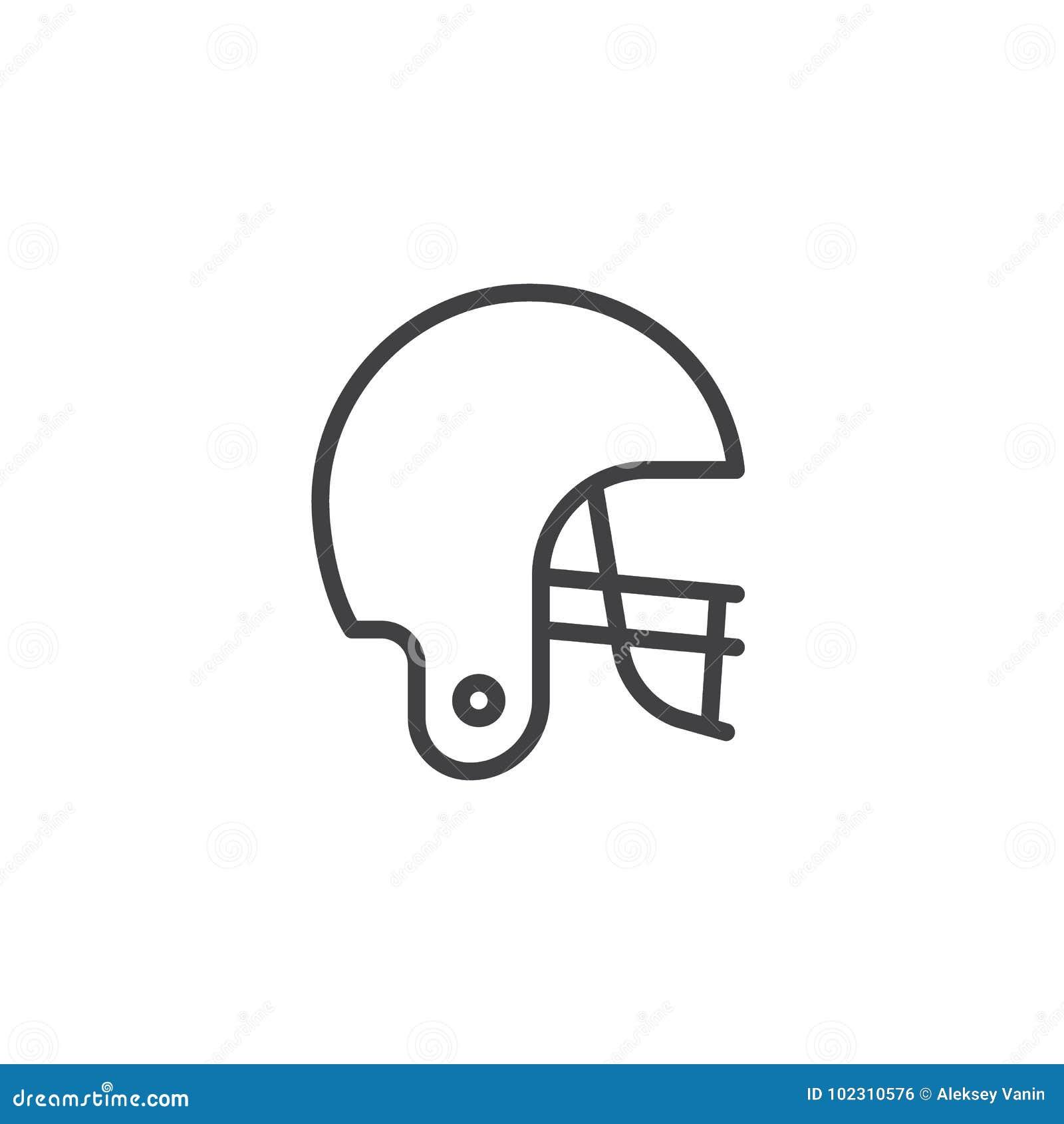 Futbolu amerykańskiego hełma linii ikona