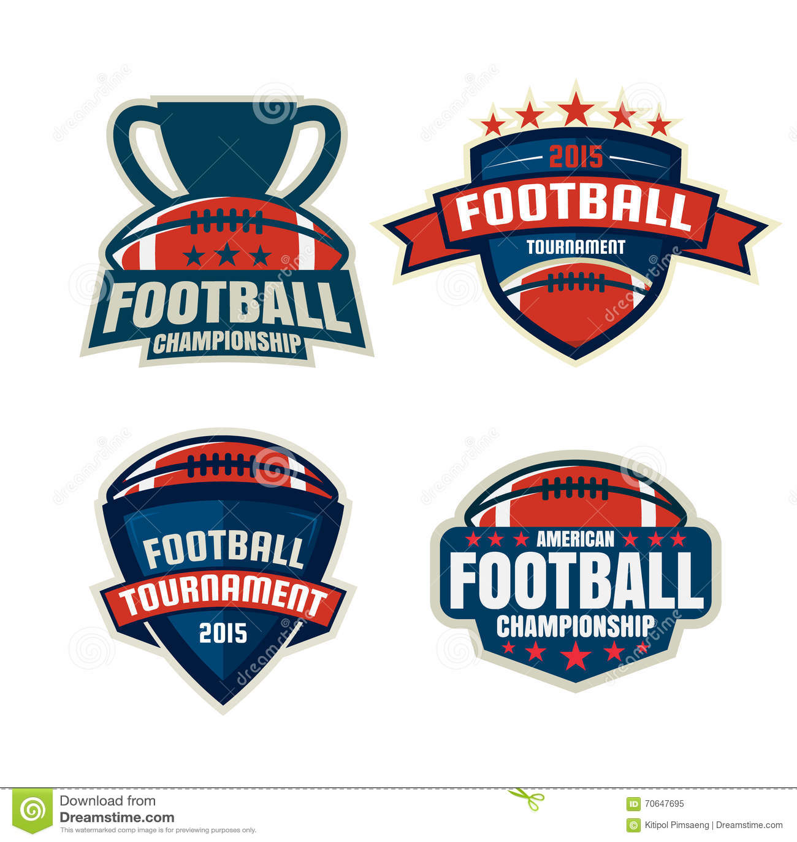 Futbolu amerykańskiego loga szablonu kolekcja