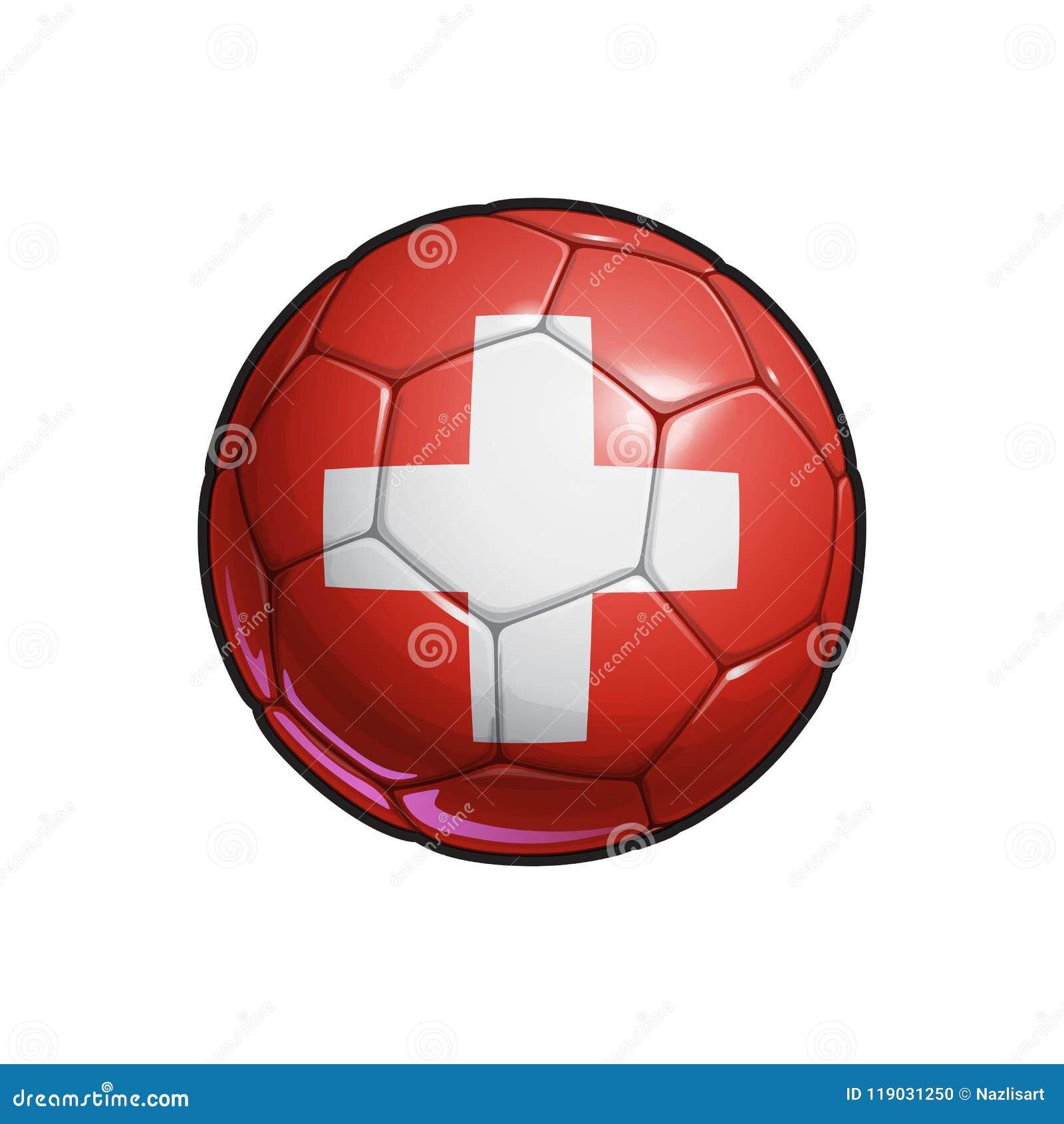 d4862f4b6da5c Futebol De Bandeira Suíço - Bola De Futebol Ilustração do Vetor ...
