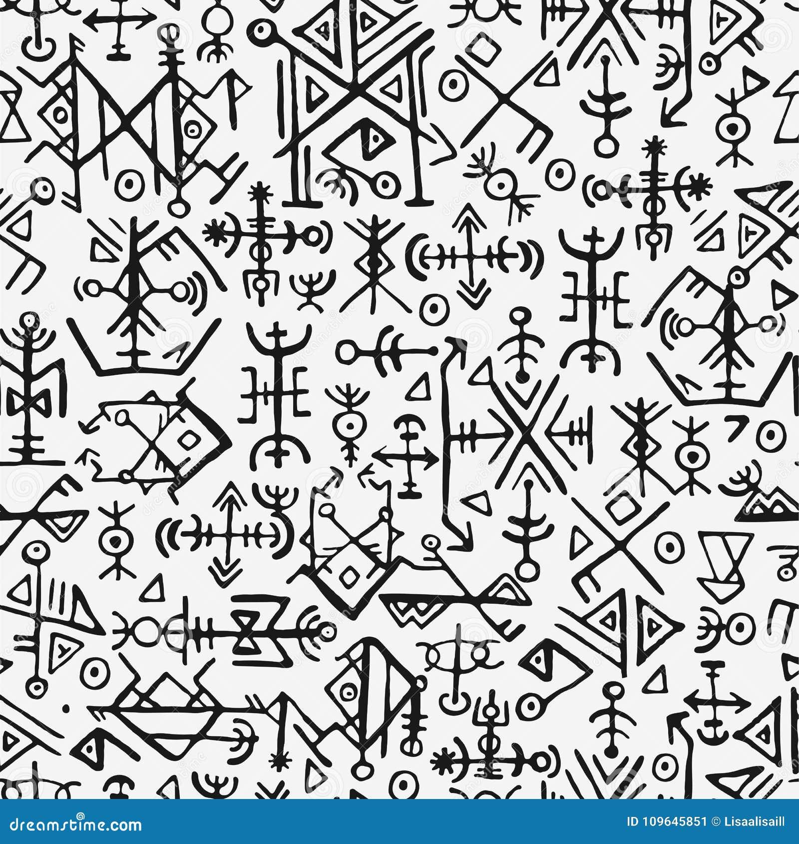 Futhark norse islandic and viking symbol seamless pattern magic futhark norse islandic and viking symbol seamless pattern magic hand draw symbols as scripted talismans repeatable biocorpaavc Choice Image