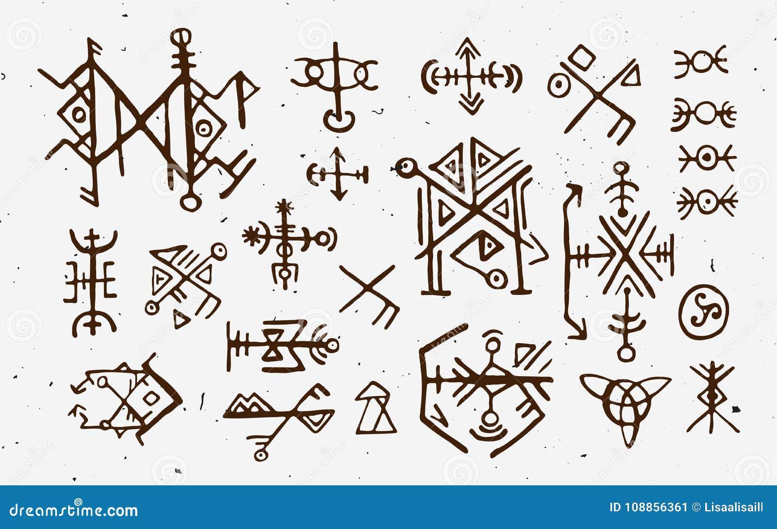 Futhark Skandinavier Islandic Und Wikinger Runen Eingestellt