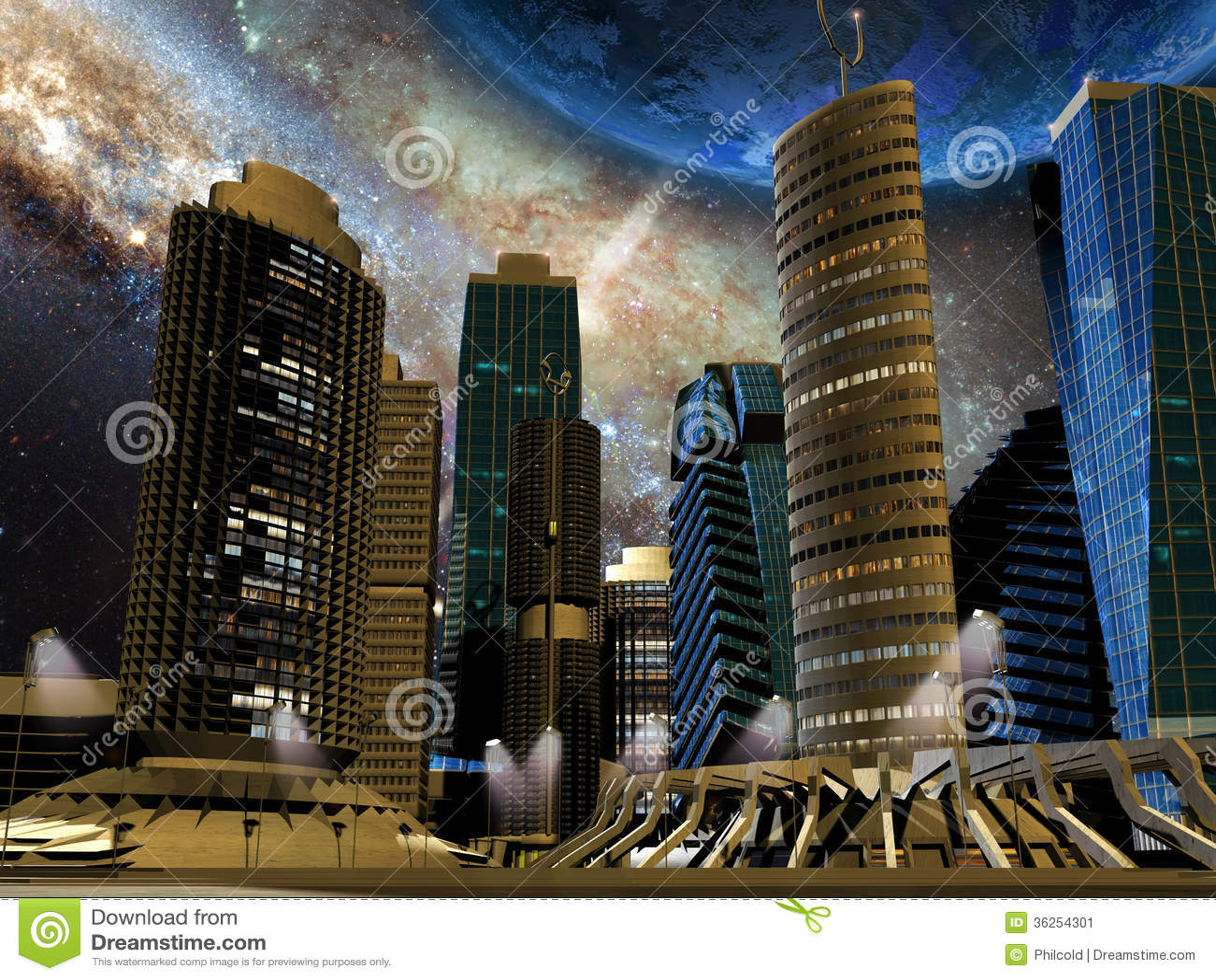 future city stock image