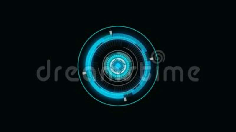 Future Concept Virtual Touch User Interface HUD With