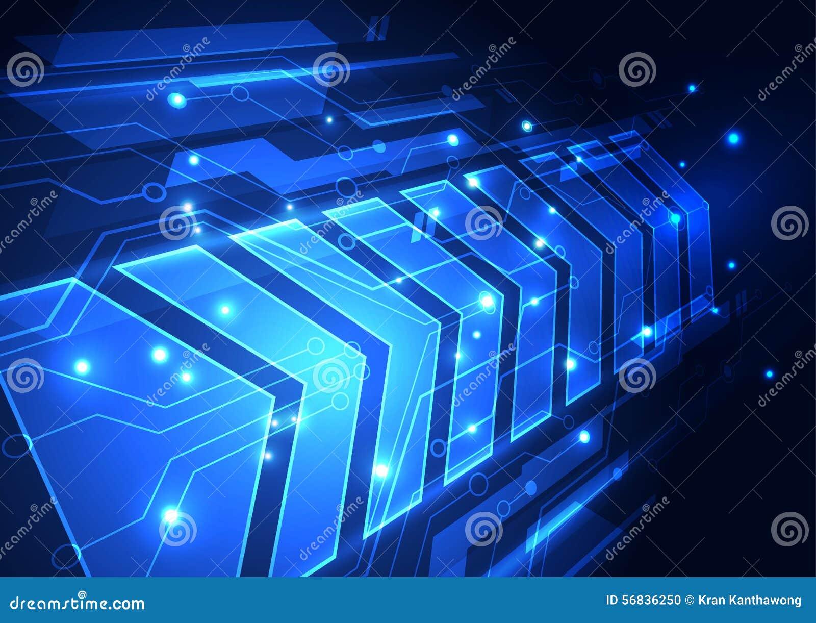 Future illustration de fond de technologie de vitesse abstraite de vecteur