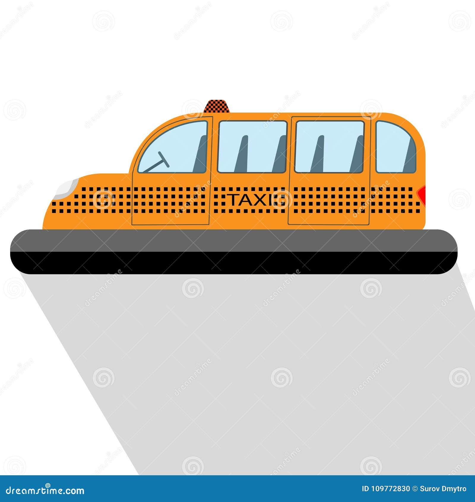 Future illustration de vecteur de voiture de taxi de vol
