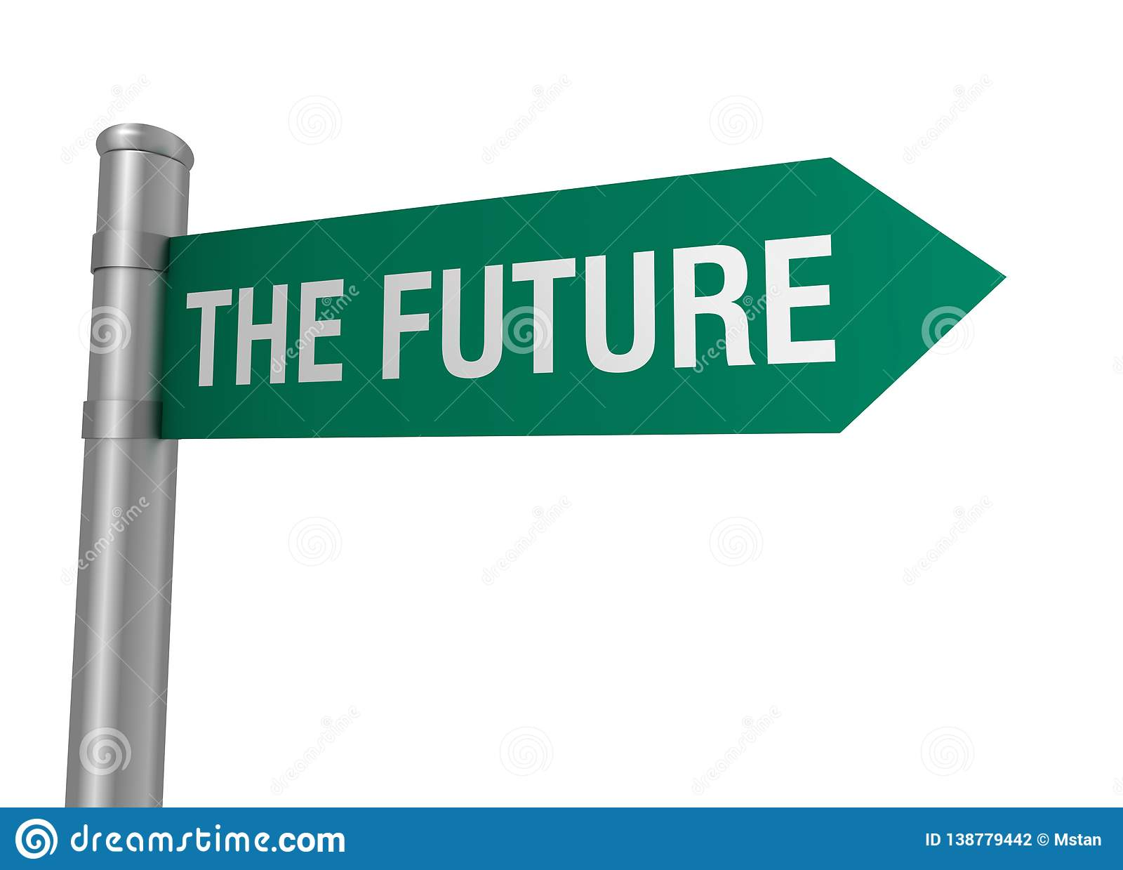 Future illustration du panneau routier 3d