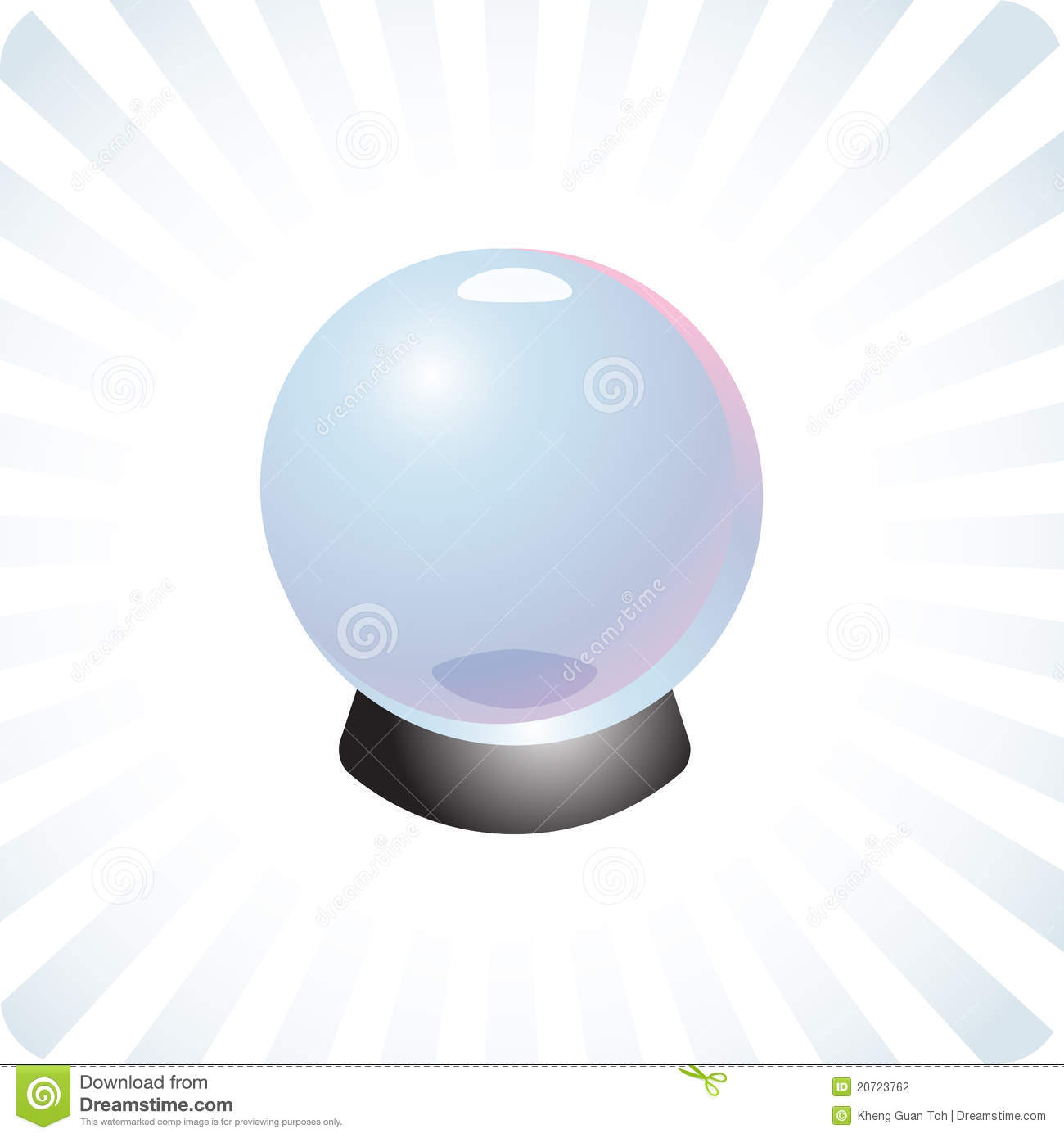 Future Prediction Crystal Ball Illustration Stock Photography - Image ...