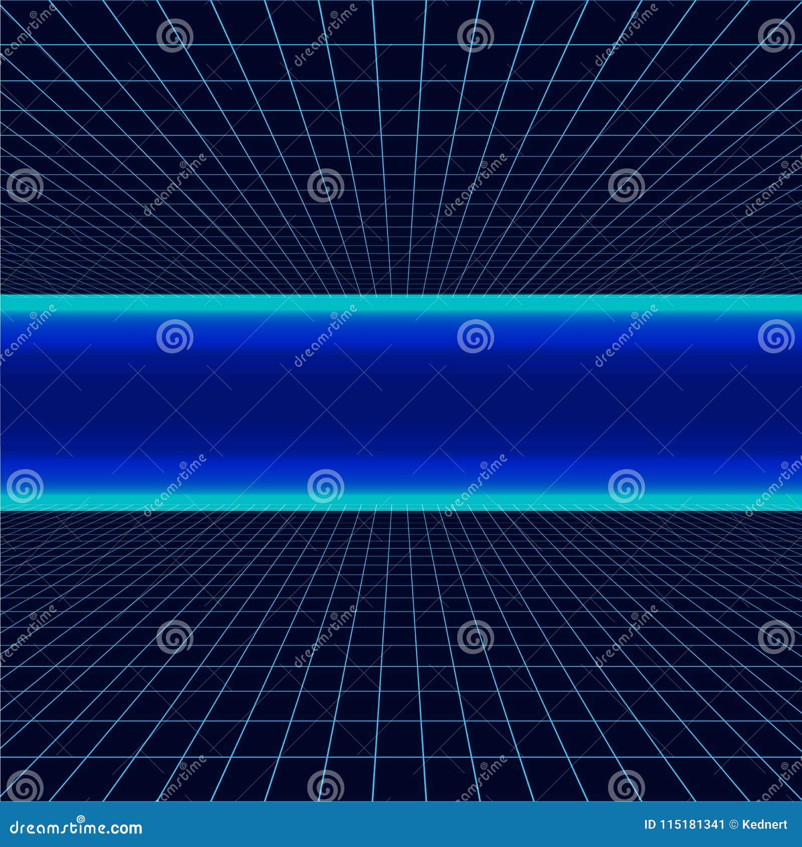 Future rétro ligne fond des années 80 Dirigez le rétro style d affiches de l illustration en 1980 s de vague de synth futuriste