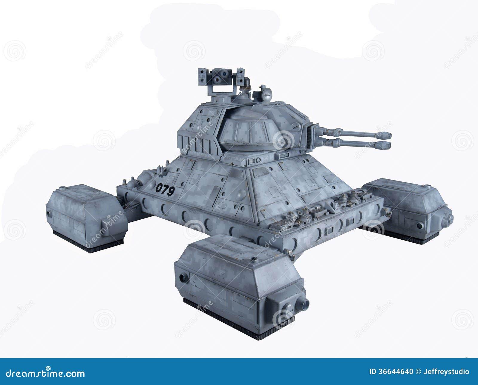 Future Sci Fi Hover Tank Stock Photo Image Of Humanoid 36644640