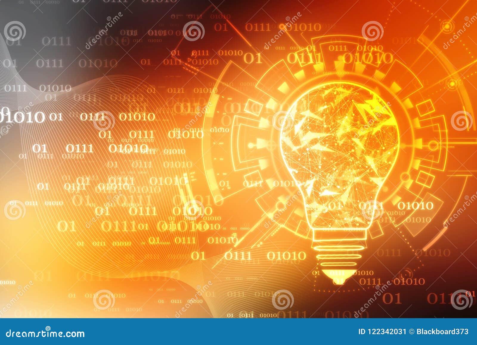 Future technologie d ampoule, fond d innovation, concept créatif d idée