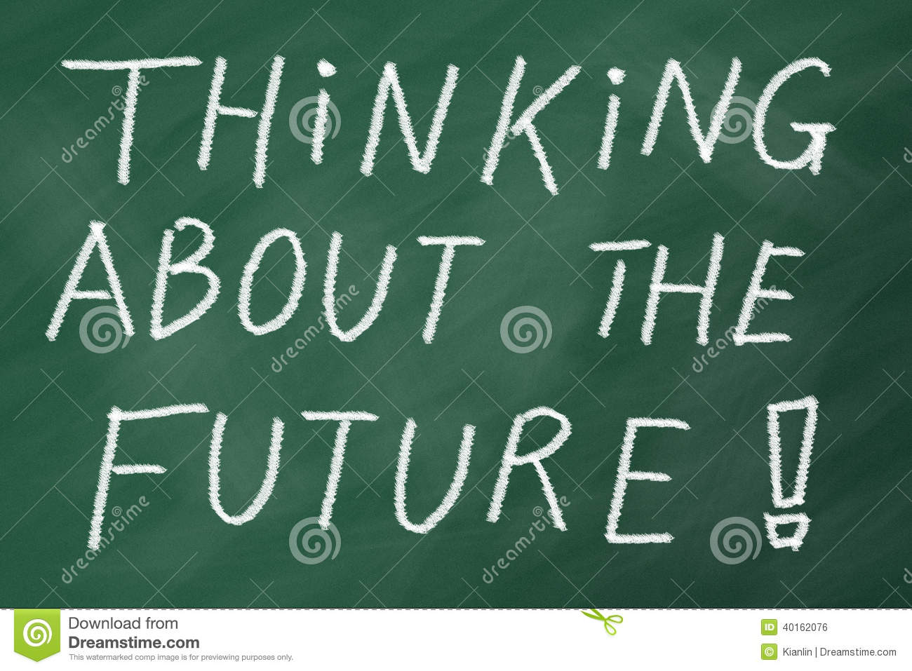 Start thinking about the future, goals in life and career.