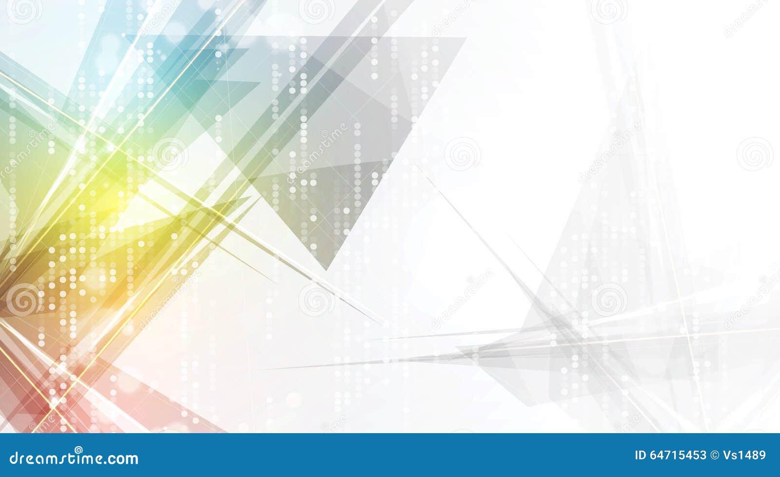 Futuristas abstractos se descoloran fondo del negocio de la informática