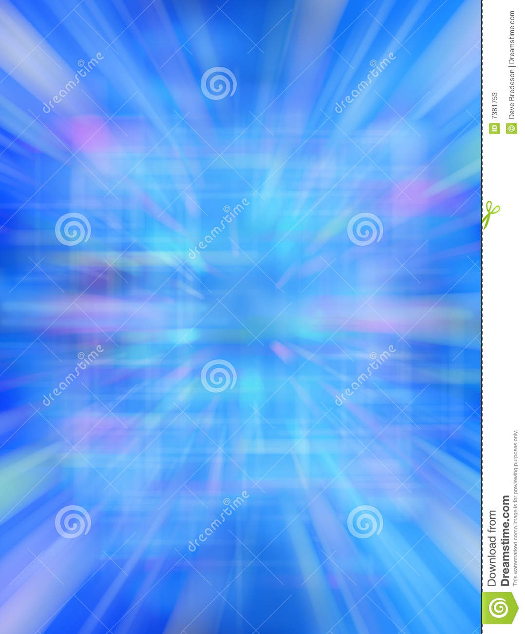 Futuristic 3D Abstract Blue Background