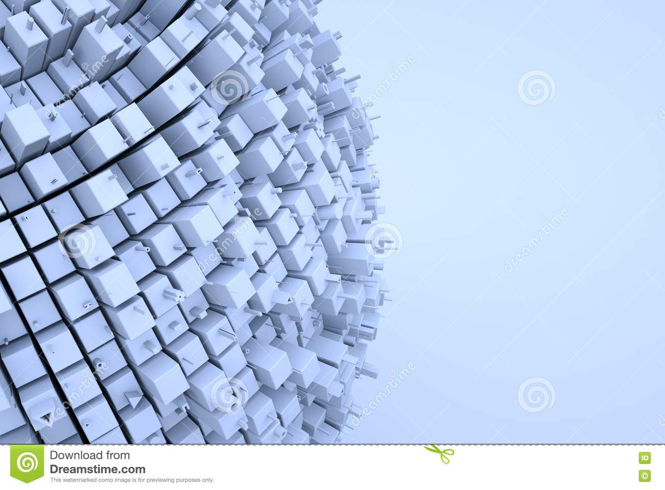 Futuristic Abstract 3D Building In Motion  Nice 3D Rendering Stock