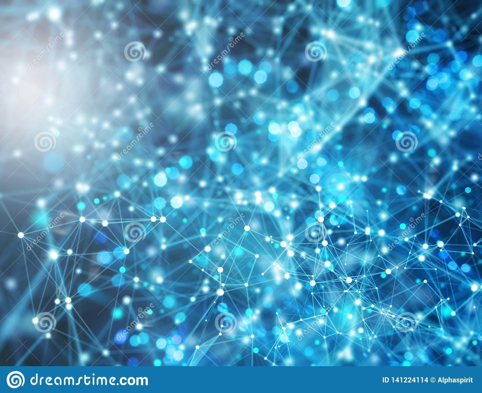 Futuristic abstract internet network background with motion effects