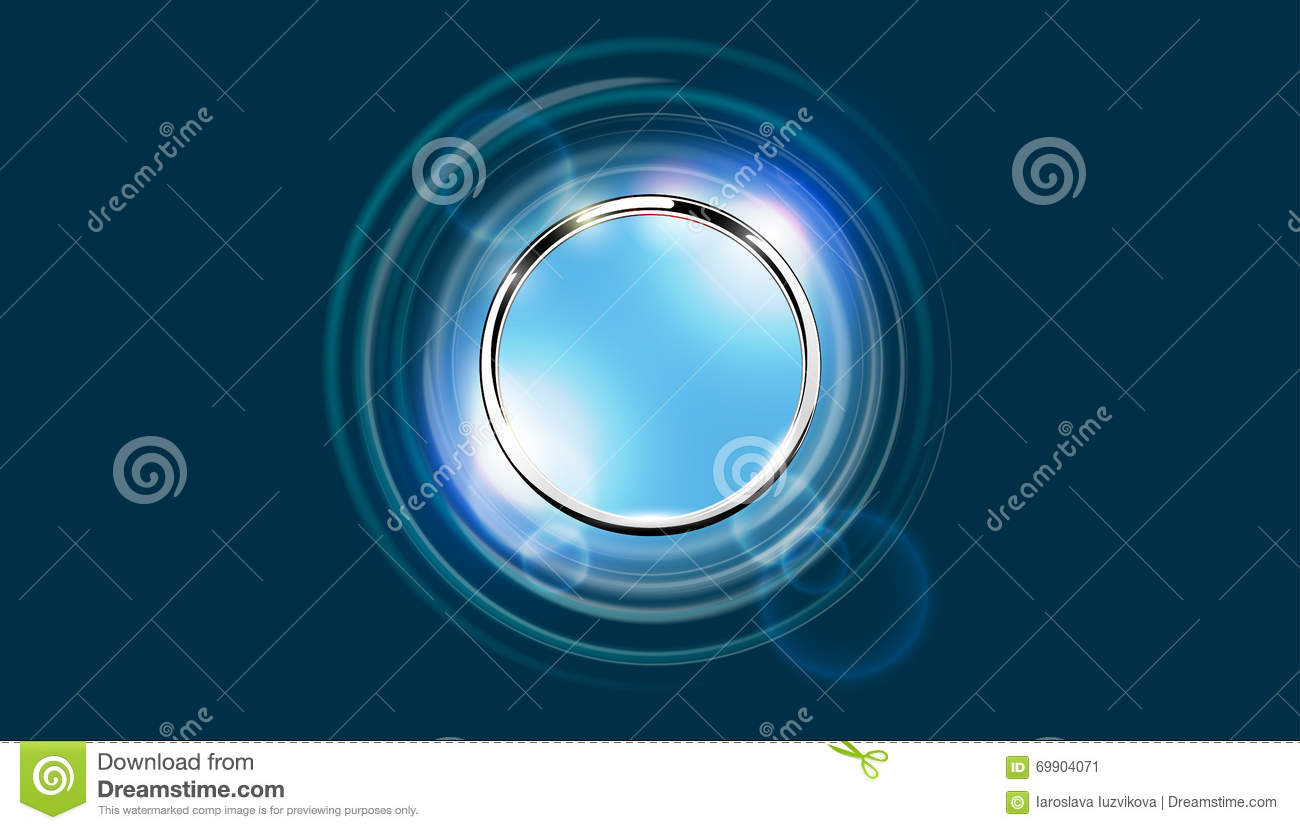 Futuristic abstract metal ring background